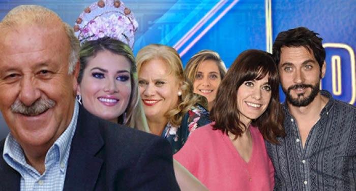 Mireia Lalaguna, Carmina Barrios y María León, Vicente del Bosque y Paco León y Alexandra Jiménez en 'El Hormiguero 3.0'