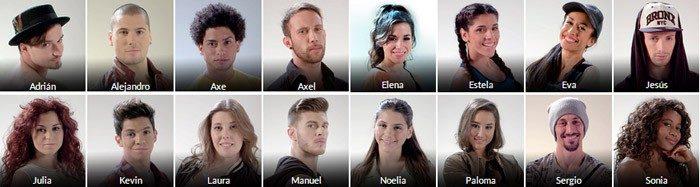Estos son los 16 concursantes de Top Dance
