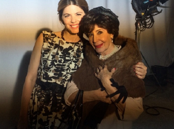 Manuela Velasco junto a su tía Concha Velasco