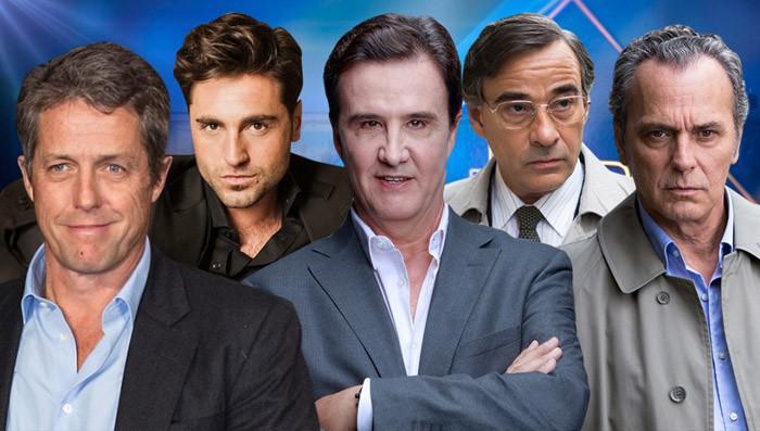 Hugh Grant, Bustamante, José Coronado, Eduardo Fernández y José Ramón de la Morena en El Hormiguero