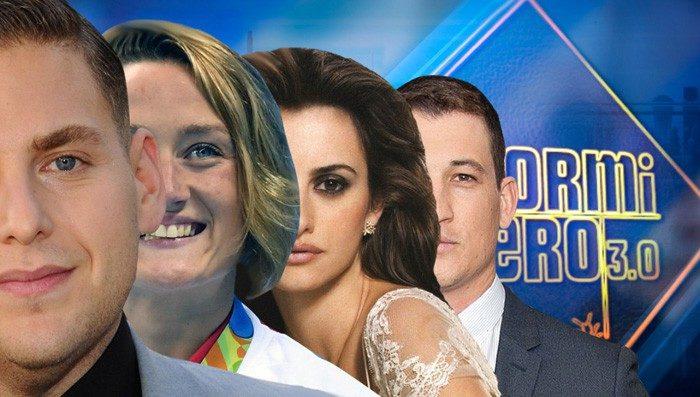 Penélope Cruz, Mireia Belmonte y Jonah Hill y Miles Teller, primeros invitados de la undécima temporada de El Hormiguero