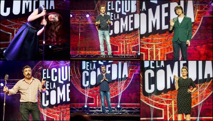 Agustín Jiménez, Luis Piedrahita, Silvia Abril, Quequé, esta noche en El club de la comedia