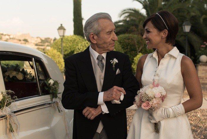 Rosa Clará viste de novia a Paula Echevarría