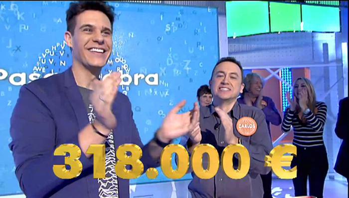 El repetidor Carlos Adán gana un bote de 318.000 euros en Pasapalabra