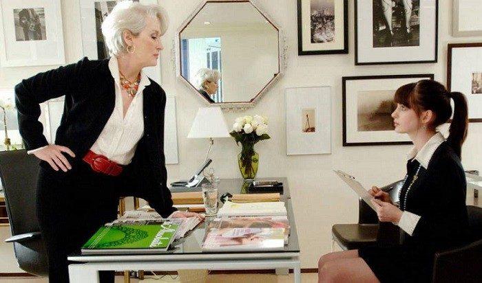 El diablo viste de Prada, con Meryl Streep y Anne Hathaway