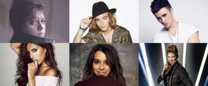 Maika, Manel Navarro, Mario Jefferson, Mirela, Paula Rojo y Leklein competirán en Objetivo Eurovisión