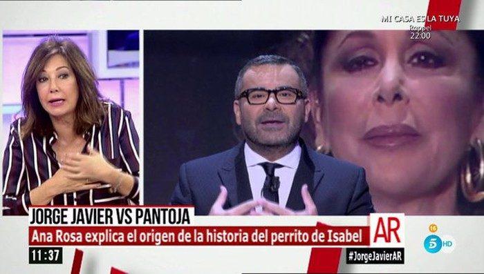 Ana Rosa Quintana apoya a la reacción de Jorge Javier Vázquez contra Isabel Pantoja