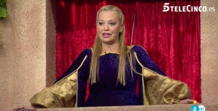 Belén Esteban, caracterizada como Julieta, y la reacción de Toño Sanchís