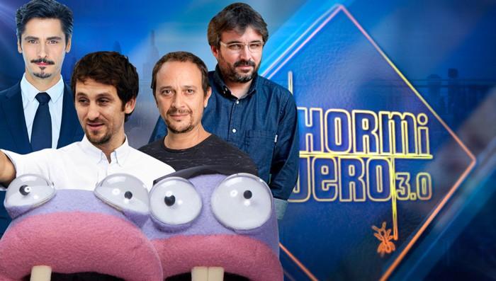 Antonio Pagudo, Raúl Arévalo y Luis Callejo y Jordi Évole en El Hormiguero 3.0