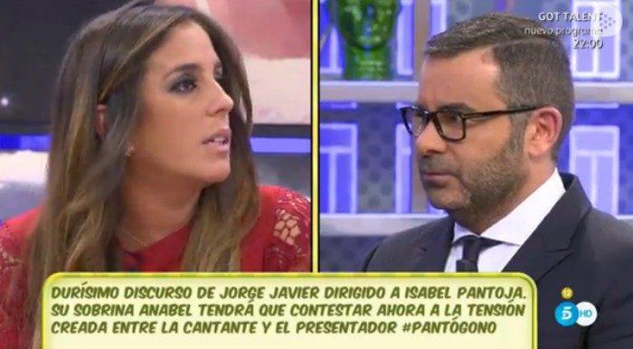 Jorge Javier Vázquez y su durísimo discurso contra Isabel Pantoja en Sálvame diario