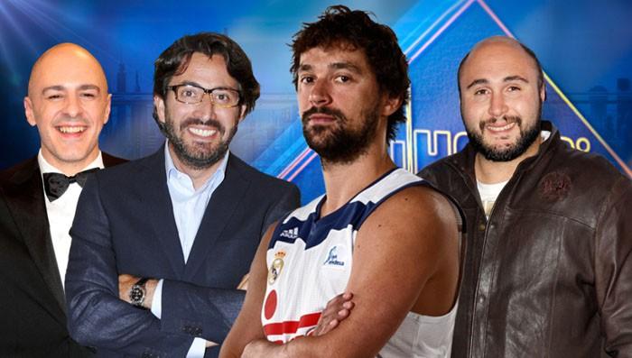 Kiko Rivera, Sergio Llull y Roberto Álamo y Antonio Garrido en El Hormiguero 3.0