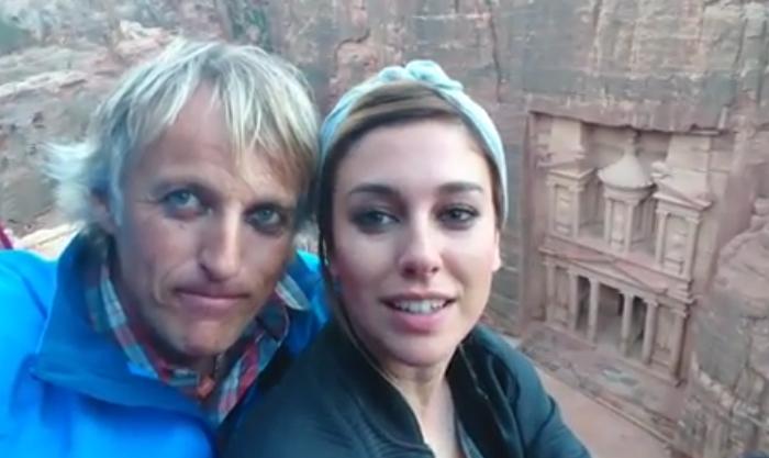 Blanca Suárez y Jesús Calleja visitan Petra