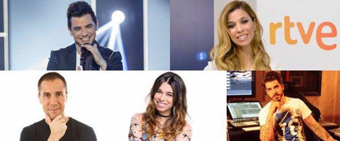 David Civera, Paula Rojo y Natalia en el jurado profesional de RTVE para Eurovisión