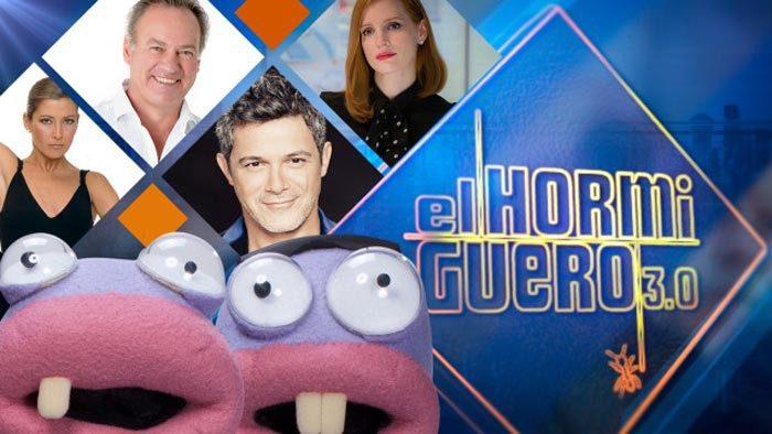 Sara Baras, Bertín Osborne, Alejandro Sanz y Jessica Chastain visitan El Hormiguero