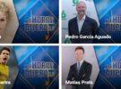 Shakira, Marc Bartra, Pedro García Aguado y Matías Prats en El Hormiguero