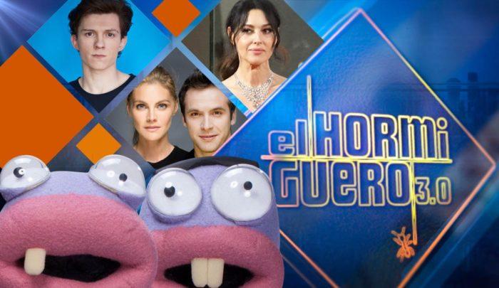 Ricardo Gómez y Amaia Salamanca, Monica Bellucci y Tom Holland, fin de temporada en El Hormiguero