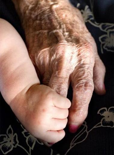 El bebé y los abuelos