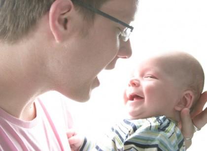 Papá y bebé 3 meses