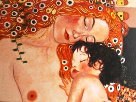 Gustav Klimt detalle las tres edades