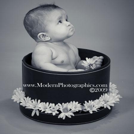 Bebé en sombrero