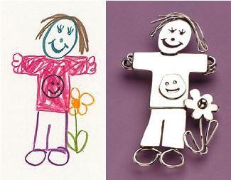 Dibujos de tus hijos en joyas