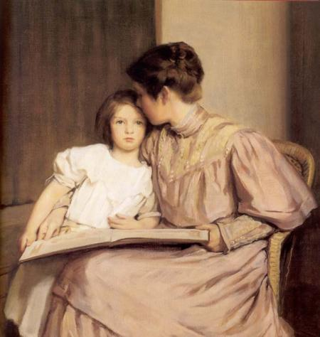 Cuadro de una hija con su madre