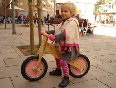 Bicicletas de madera, muy natural