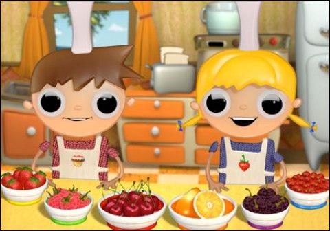 Dibujos animados: Telmo y Tula, pequeños cocineros