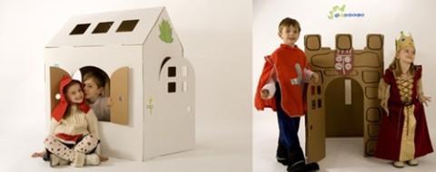 el mejor juguete el carton reciclado
