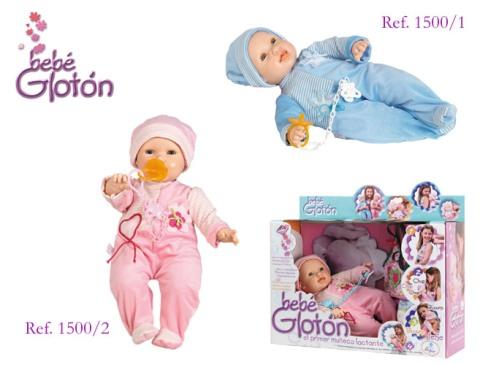 Bebé glotón, un muñeco lactante