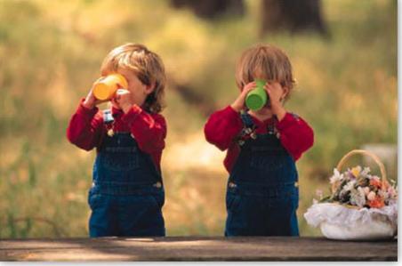 Los niños y las gaseosas