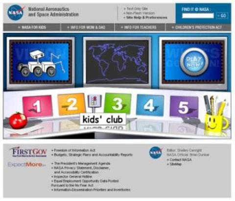 Nasa Kid's Club, astronomía para niños