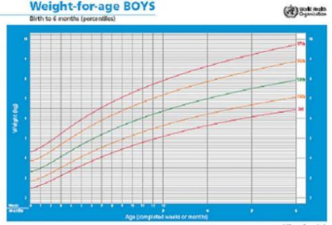 Como interpretar la tabla de crecimiento en percentiles