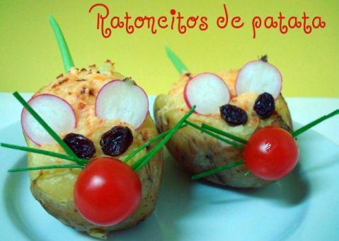 receta para niños: ratoncitos de patata