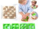 Sandwiches divertidos con formas de puzzle