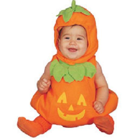 Disfraz casero para halloween calabaza - Como hacer un disfraz de bebe ...