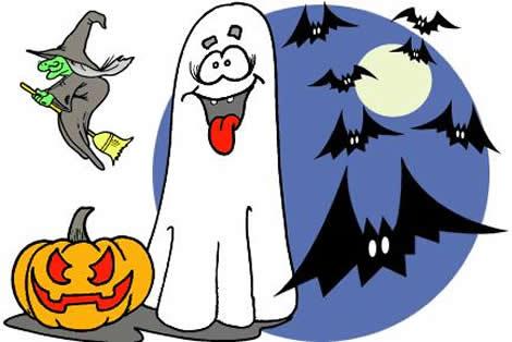 Manualidades con niños arañas y fantasmas para decorar halloween