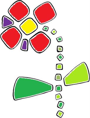 manualidades con niños un dibujo con gomets