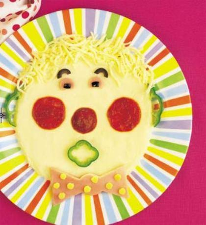 receta para niños: payaso con pure de patatas