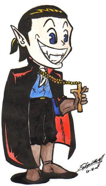 disfraz casero para halloween: vampiro o vampiresa