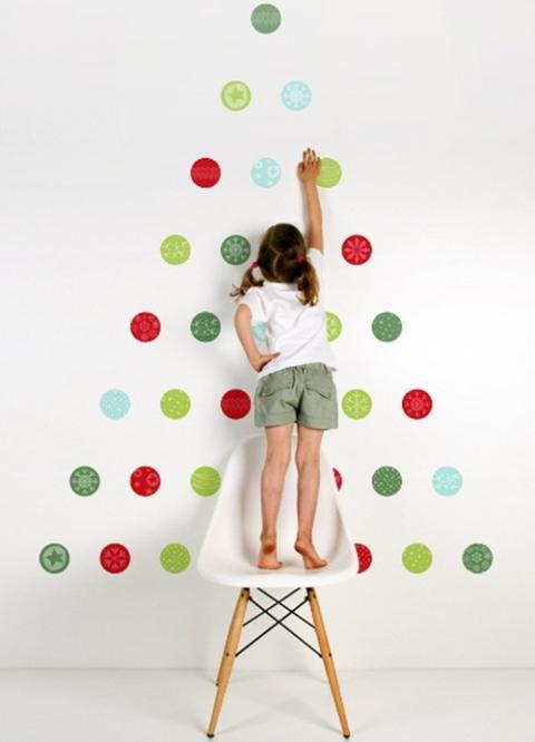 Rbol de navidad para pegar en la pared - Arbol de navidad para pared ...