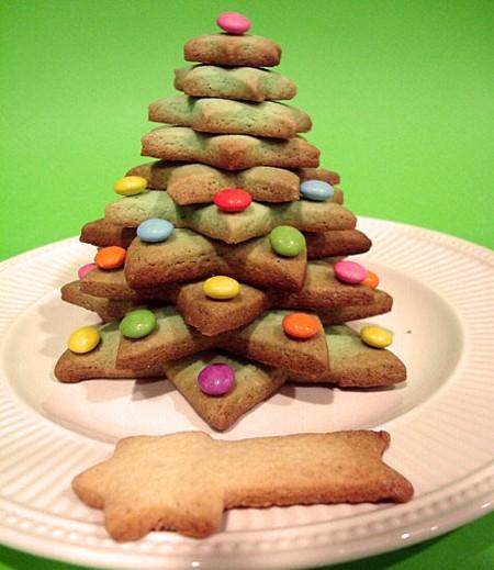receta de navidad un arbol de galletas