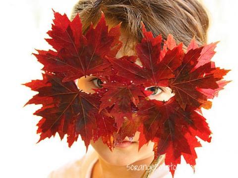 Manualidades con niños: Máscara para disfrazarte de otoño