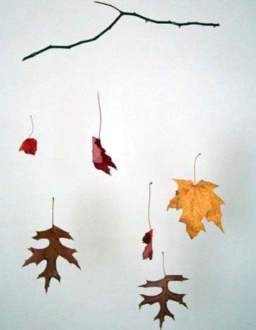 manualidades con niños: un movil para celebrar el otoño
