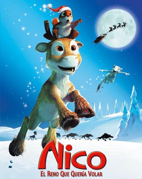 cine para navidad nico el reno que queria volar