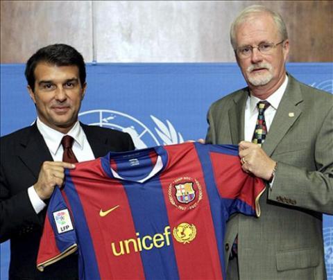 Nueva campaña contra el sida de el FC. Barcelona y UNICEF