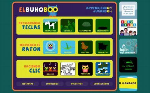 El BúhoBoo un sitio de juegos didácticos para los más pequeños