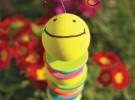 Manualidades: Un gusano de colores