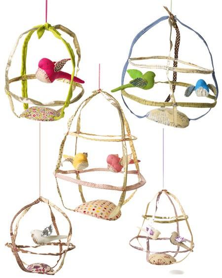 Pájaros para decorar la habitación del bebé