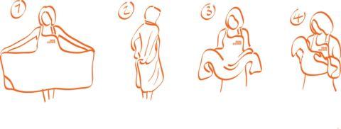 toalla delantal puesta